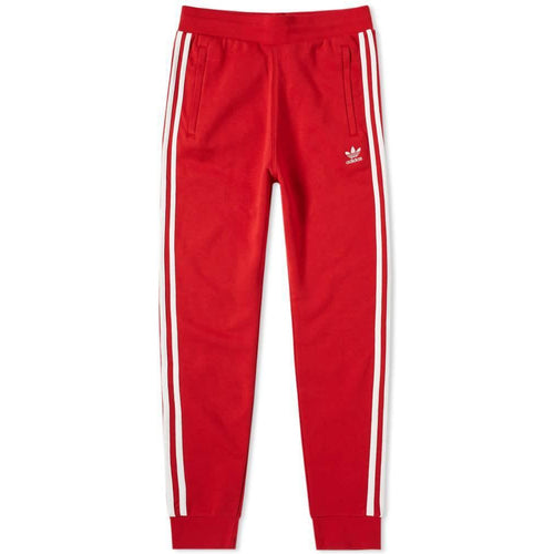 ADIDAS 3-Stripe Sweatpants, Power Red