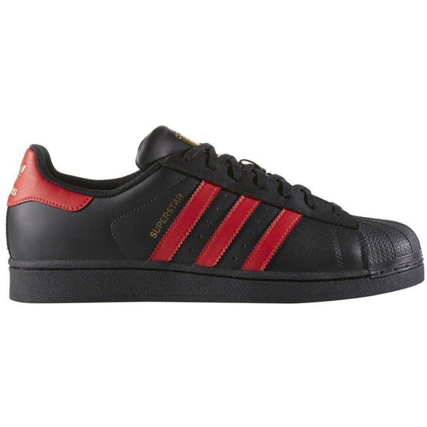 ADIDAS Superstar, Core Black/ Light Scarlet-OZNICO