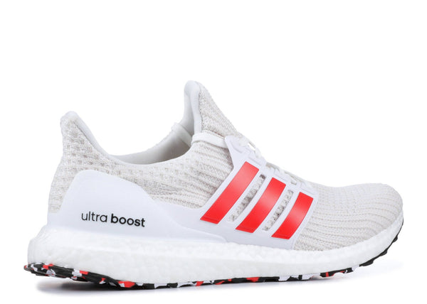 ADIDAS Ultraboost 4.0, White/ Active Red-OZNICO