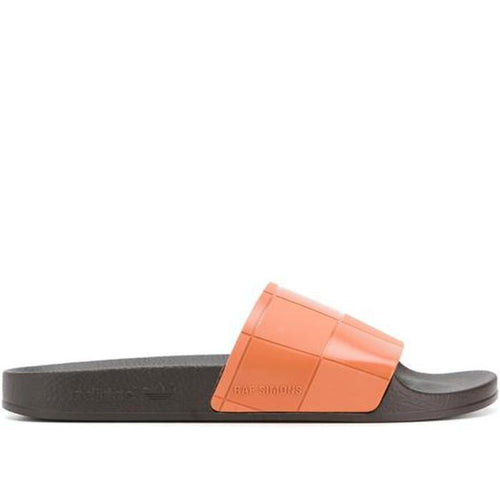 ADIDAS X RAF SIMONS Adilette Checkerboard Slides, Black/ Brown-OZNICO