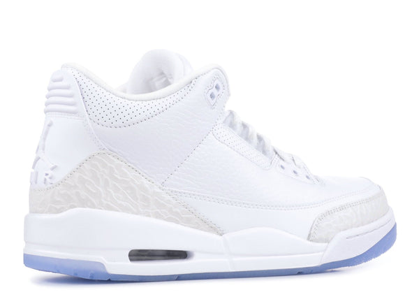 "AIR JORDAN 3 Retro, ""Pure White""-OZNICO"