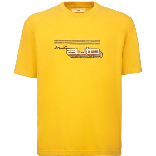 BALLY Auto Print T-Shirt, Canary-OZNICO