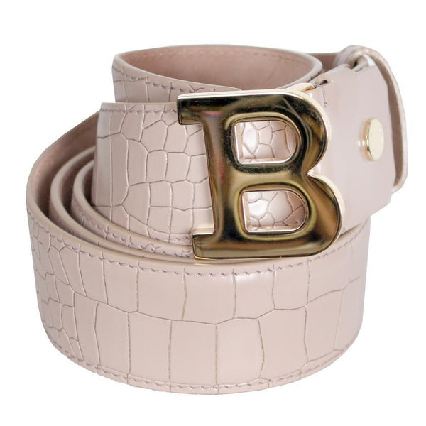 BALLY B Buckle Belt, Nude-OZNICO