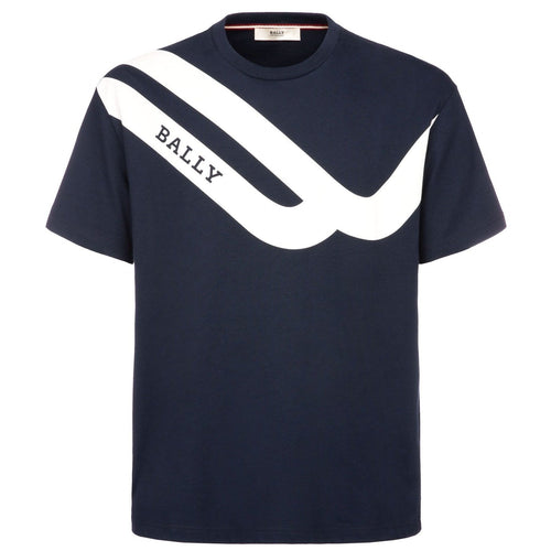 BALLY Competition T-Shirt, Navy-OZNICO