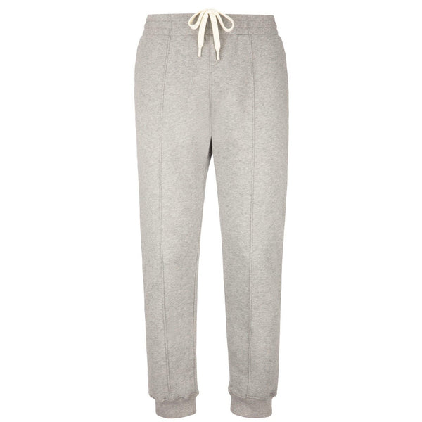 BALLY Cotton Fleece Tracksuit Sweatpants, Grey Melange-OZNICO