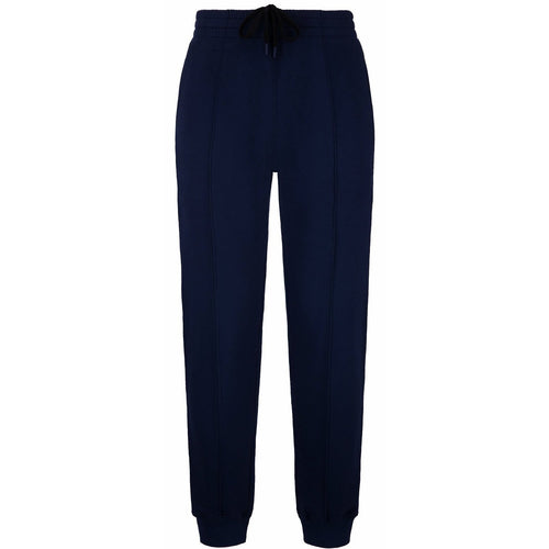 BALLY Cotton Fleece Tracksuit Sweatpants, Marine-OZNICO