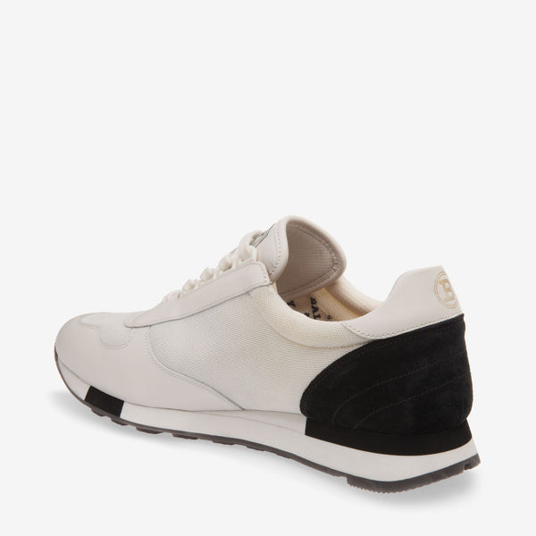 BALLY Gavino Mesh Calf Leather Trainer, White-OZNICO