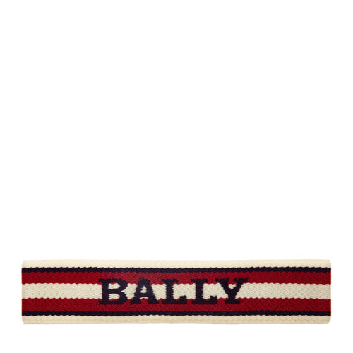 BALLY Knit Logo Headband, Multi-Bone-OZNICO