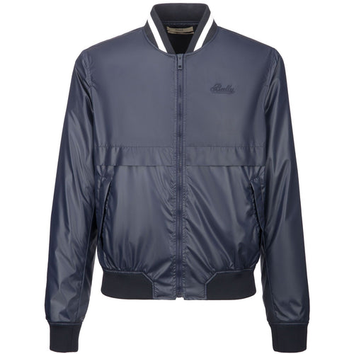 BALLY Nylon Bomber Jacket, Ink-OZNICO