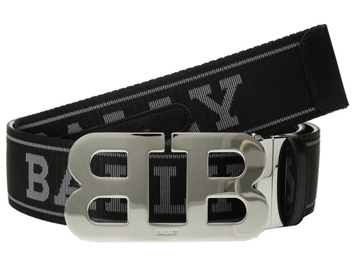 BALLY Reversible Mirror Belt, Black/ Anthracite-OZNICO