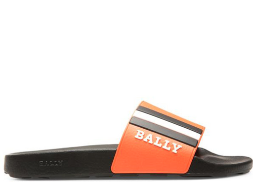 BALLY Saxor Men's Rubber Slides, Lobster-OZNICO