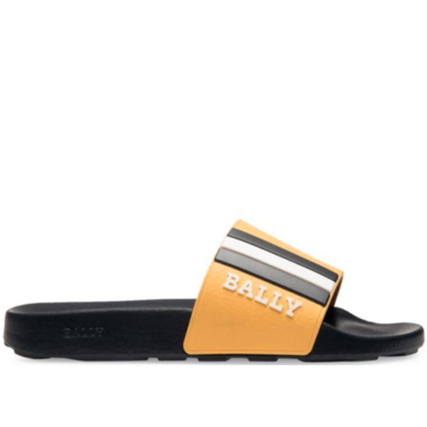 BALLY Saxor Slides, Black/Kodak-OZNICO