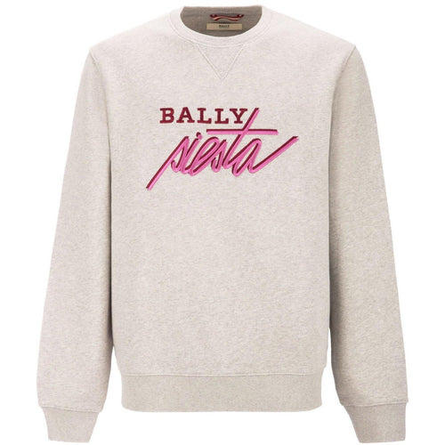BALLY Siesta Embroided Sweatshirt, Grey-OZNICO