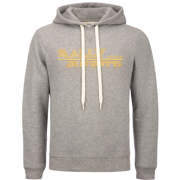 BALLY Suvretta Hooded Sweatshirt, Grey-OZNICO