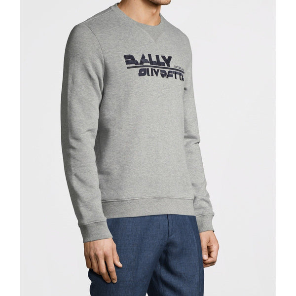 BALLY Suvretta Sweatshirt, Grey-OZNICO
