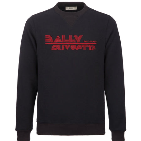 BALLY Logo Hooded Sweatshirt, Navy