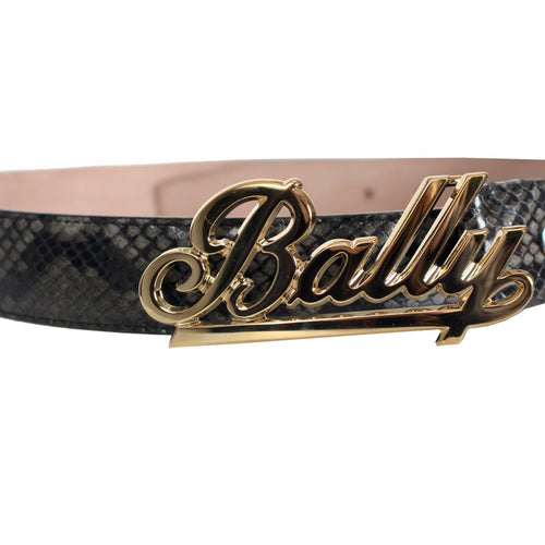 BALLY Swoosh Adjustable Belt, Fango-OZNICO