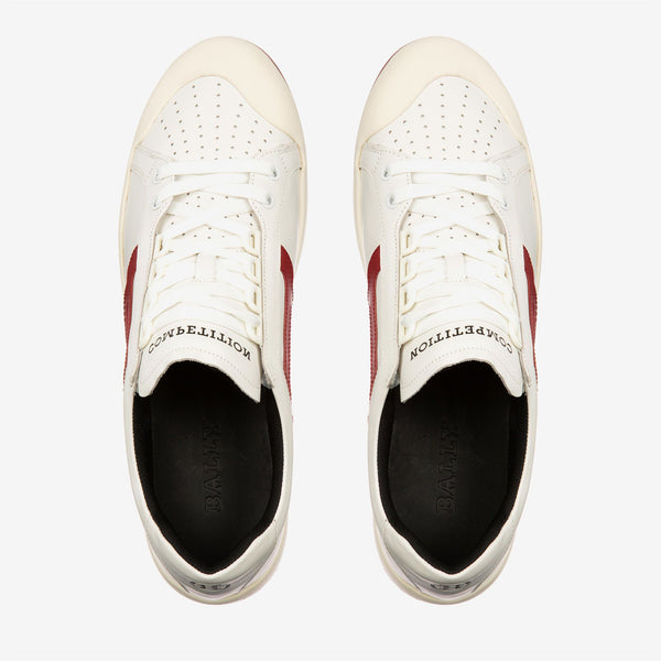 BALLY The New Competition Sneaker, White/ Red-OZNICO