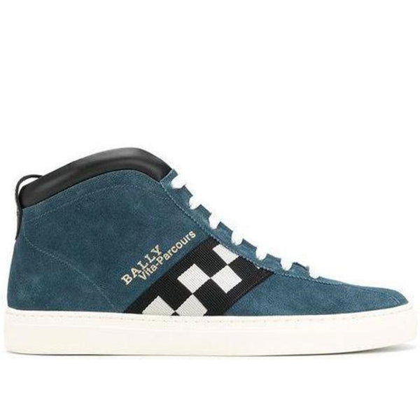BALLY Vita-Parcours High Top Sneakers, Ocean-OZNICO