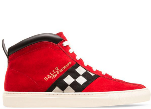 BALLY Vita-Parcours Suede High Top Trainer, Corvette-OZNICO
