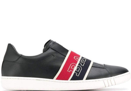 BALLY Wictor Slip On Logo Band Sneaker, White/ Navy/ Red