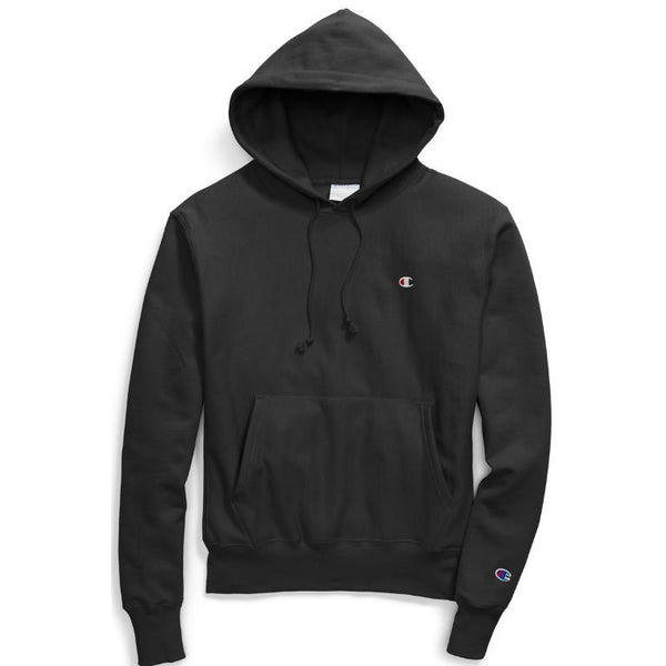 CHAMPION Reverse Weave Pull Over Hoodie, Black-OZNICO