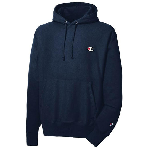 CHAMPION Reverse Weave Pull Over Hoodie, Navy-OZNICO