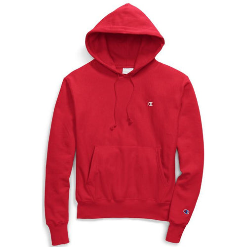 CHAMPION Reverse Weave Pull Over Hoodie, Team Red Scarlet-OZNICO