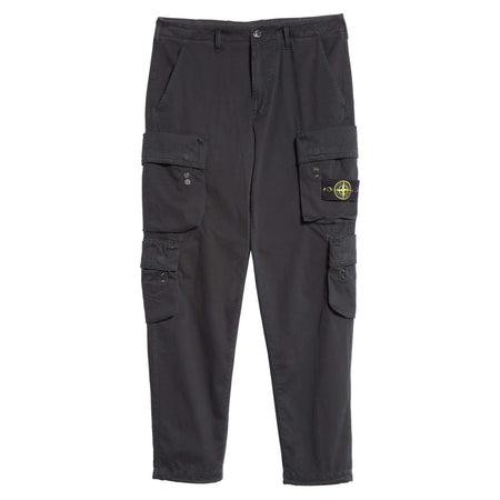STONE ISLAND Logo Patch Track Shorts, Black