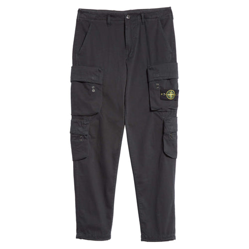STONE ISLAND Old Dye Treatment Cargo Pants, Black