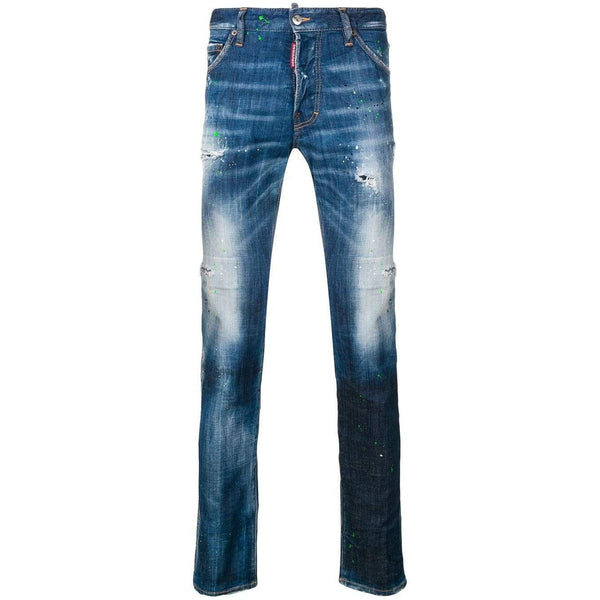 DSQUARED2 5 Pocket Distressed Jeans, Blue-OZNICO