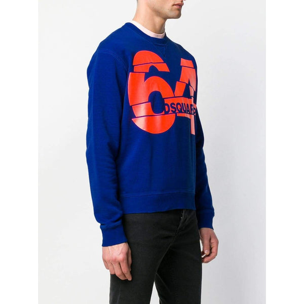 DSQUARED2 64 Logo Sweatshirt, Blue-OZNICO