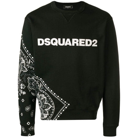 DSQUARED2 Bandanna Print Logo Sweatshirt, Red
