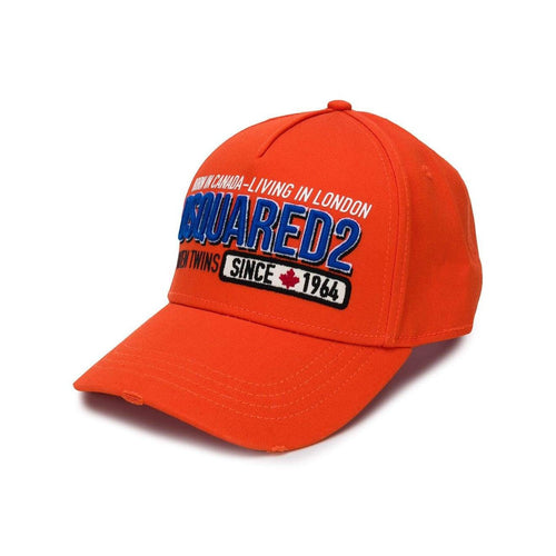 DSQUARED2 Baseball Cap, Orange-OZNICO