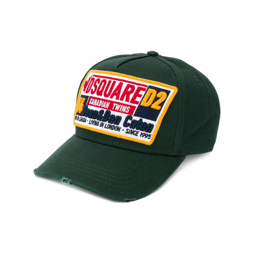 DSQUARED2 Canadian Twins Baseball Cap, Verde-OZNICO
