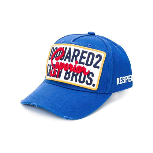 DSQUARED2 Caten Bros Baseball Cap, Royal-OZNICO