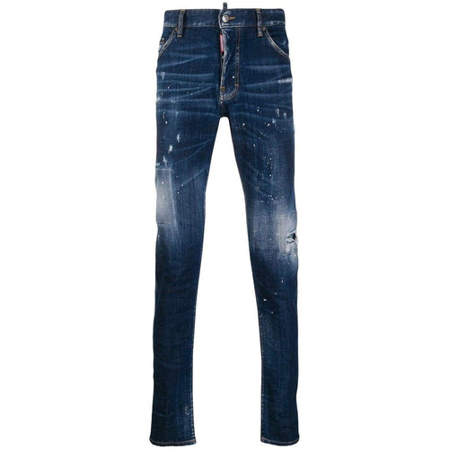 DSQUARED2 Distressed Slim-Fit Jeans, Medium Wash-OZNICO