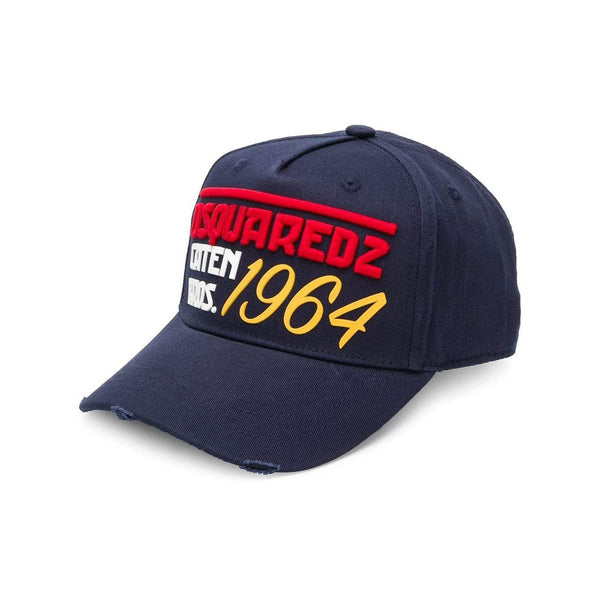 DSQUARED2 Embroidered Logo Baseball Cap, Navy-OZNICO