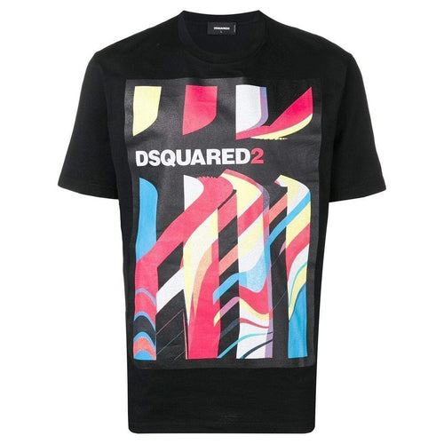 DSQUARED2 Graphic Print T-Shirt, Black-OZNICO
