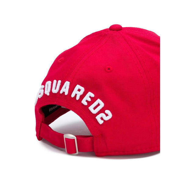 DSQUARED2 Icon Baseball Cap, Red-OZNICO