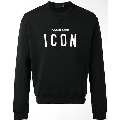 DSQUARED2 'ICON' Crewneck, Black-OZNICO