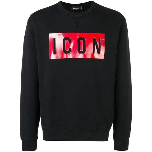 DSQUARED2 Icon Print Sweatshirt, Black-OZNICO