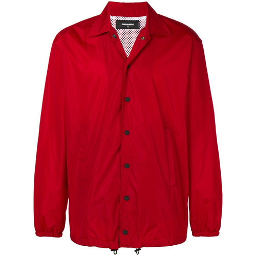 DSQUARED2 Logo Coach Jacket, Red-OZNICO