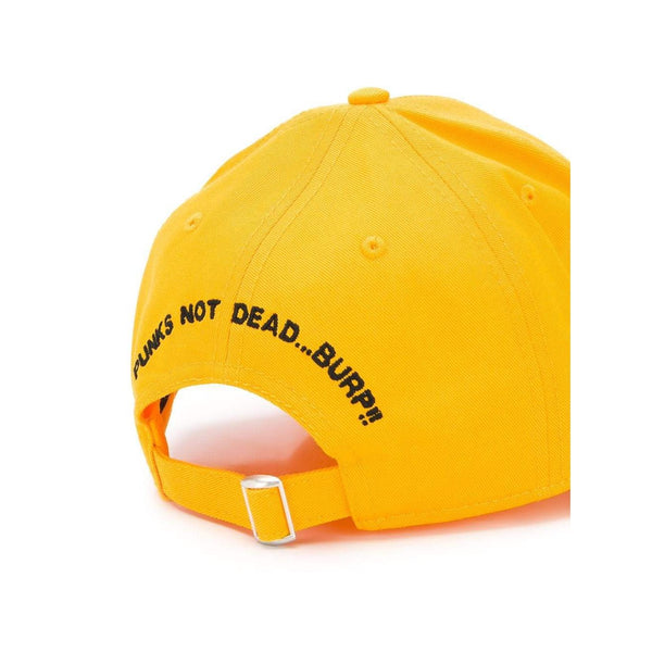 DSQUARED2 Logo Embroidered Baseball Cap, Yellow-OZNICO