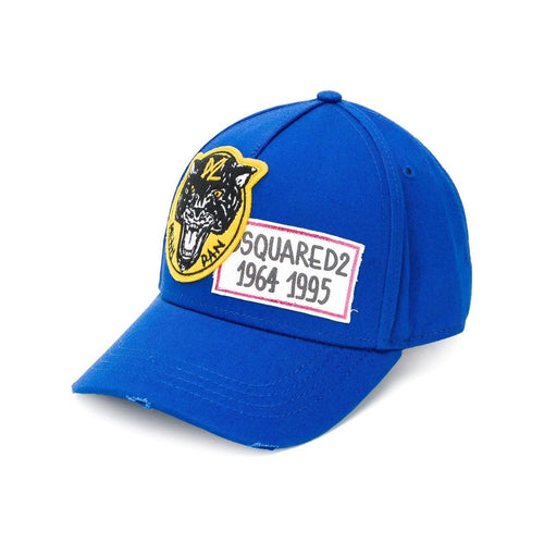 DSQUARED2 Logo Patch Baseball Cap, Royal-OZNICO