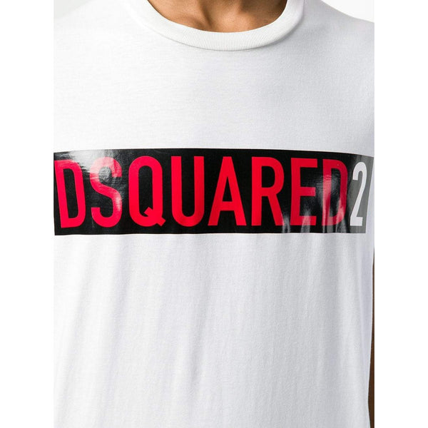 DSQUARED2 Logo T-shirt, White-OZNICO