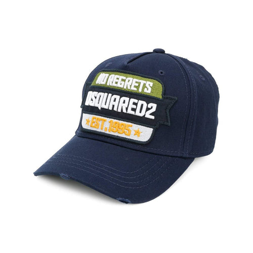 DSQUARED2 No Regrets Baseball Cap, Navy-OZNICO