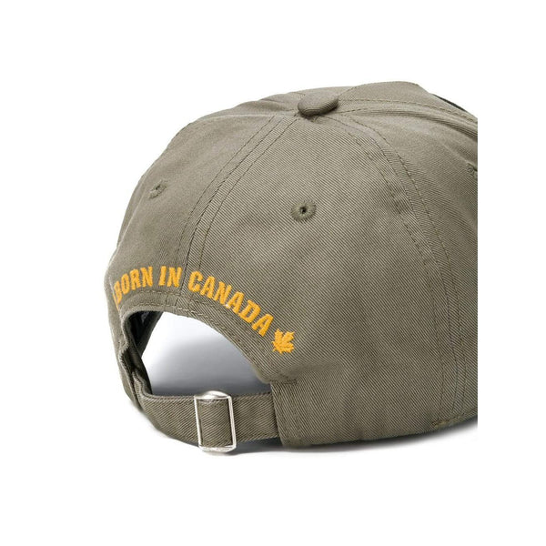 DSQUARED2 Patch Baseball Cap, Military Green-OZNICO