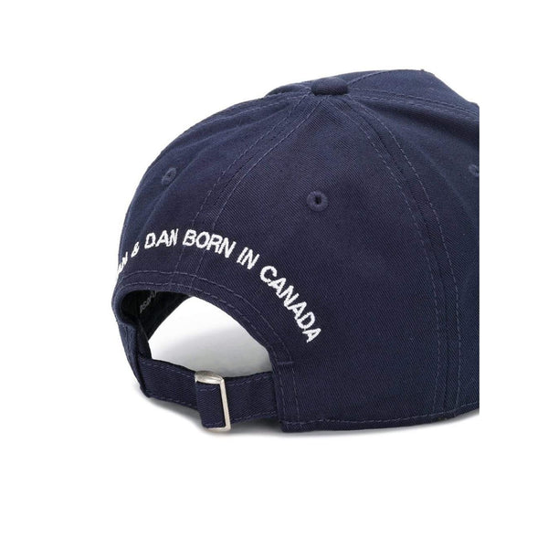 DSQUARED2 Patch Baseball Cap, Navy-OZNICO