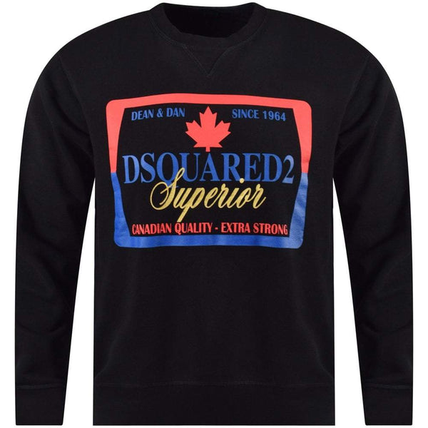 DSQUARED2 Superior Sweatshirt, Black-OZNICO